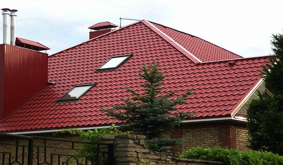Крыша металлочерепица монтеррей 6