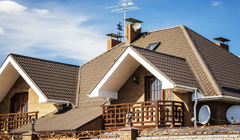 Крыша металлочерепица монтеррей 8