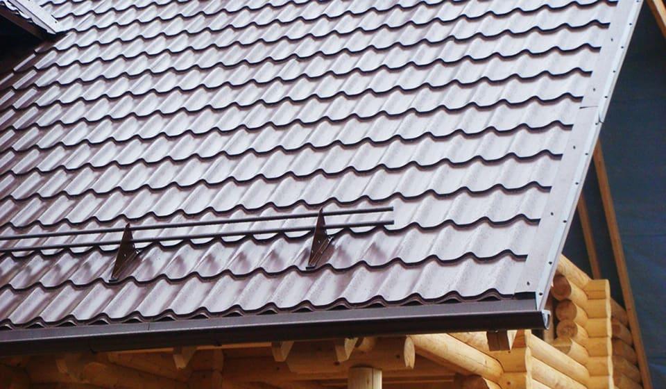 Крыша металлочерепица монтеррей