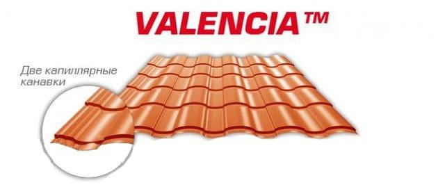 Металлочерепица Валенсия