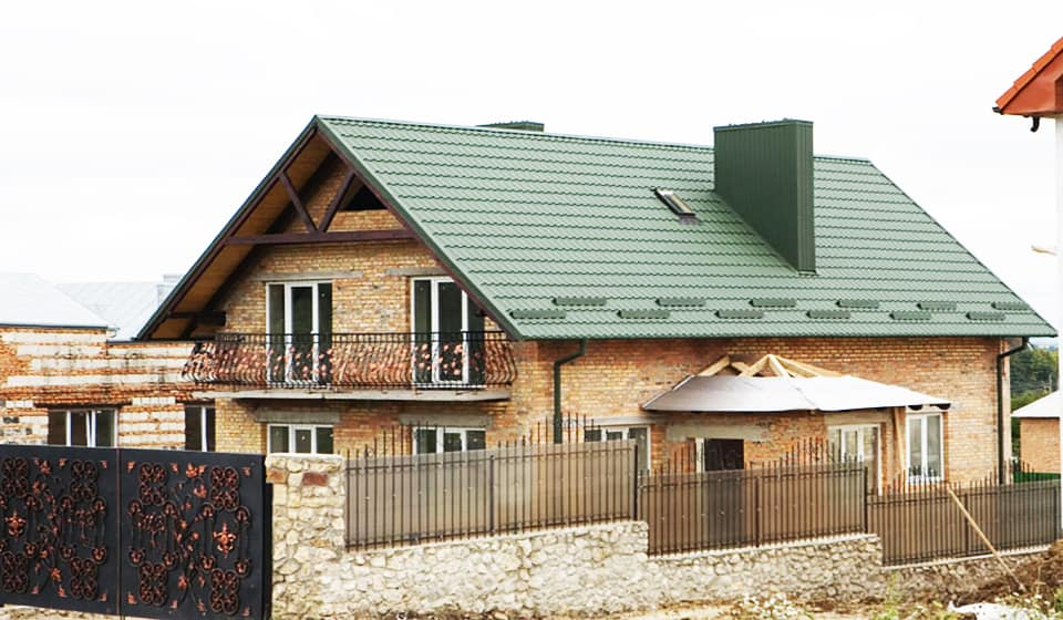 Крыша металлочерепица монтеррей 5